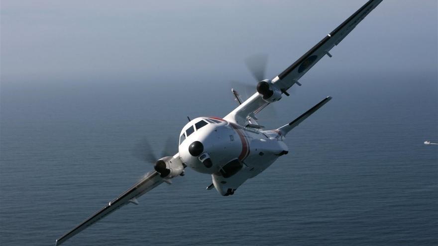 El avión de Salvamento.