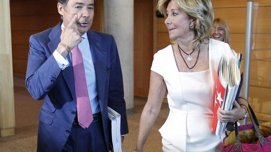 Ignacio González y Esperanza Aguirre, en la Asamblea de Madrid.
