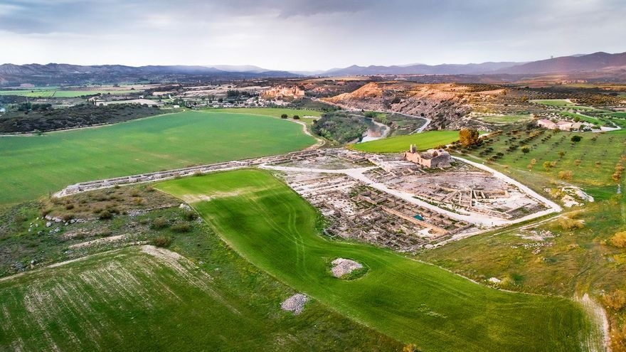 Vista aérea de Recópolis FOTO: Gobierno Castilla-La Mancha