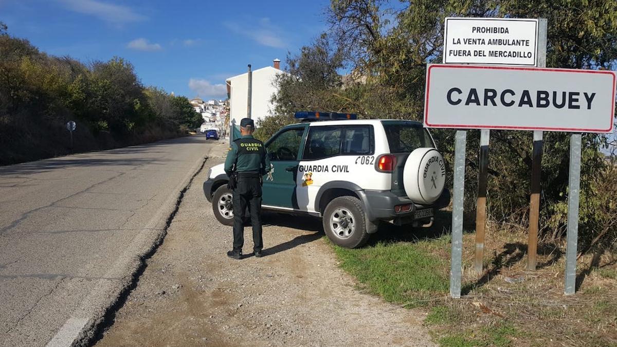 Guardia Civil en Carcabuey.