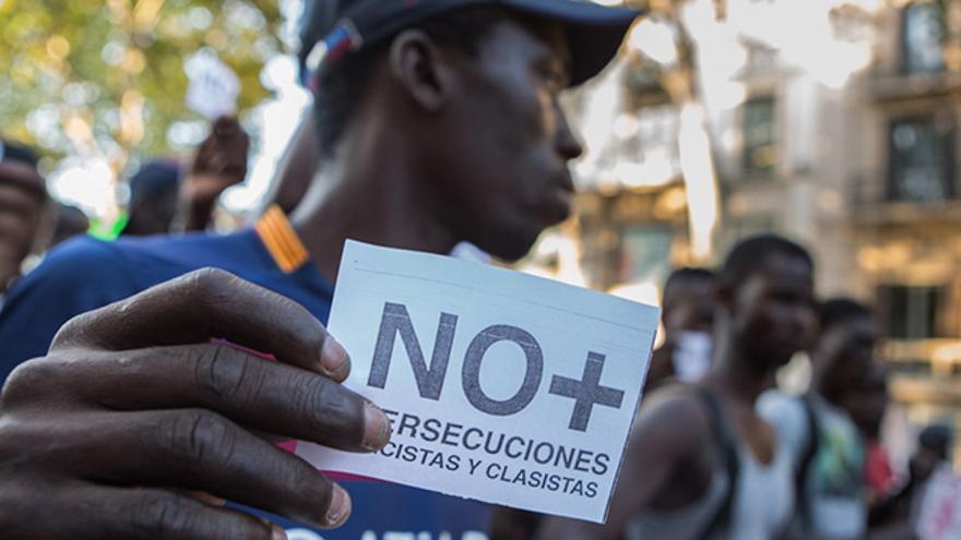 Manters durant una manifestació