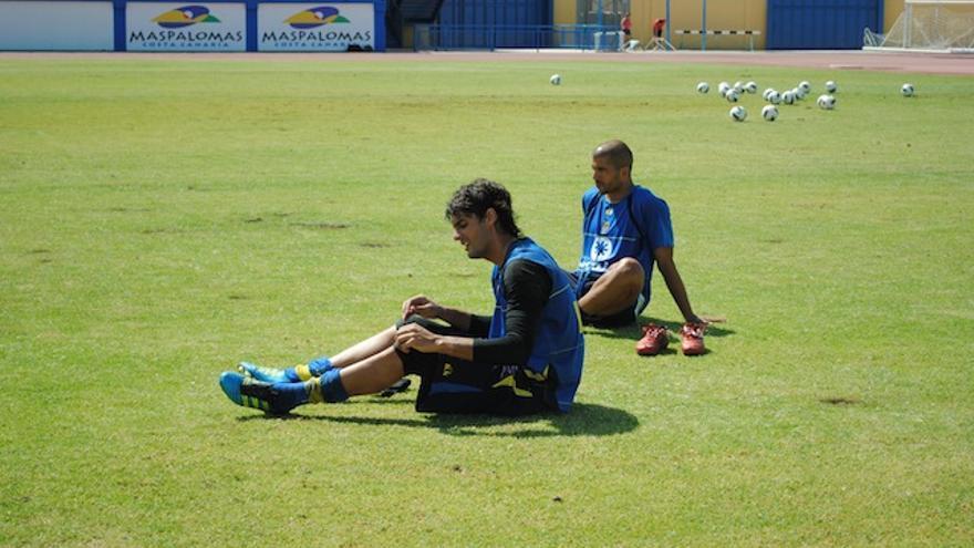 Barbosa tras la calurosa sesión matutina.
