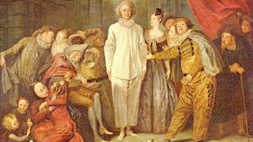 'Comediantes', de Antoine Watteau. (1720).