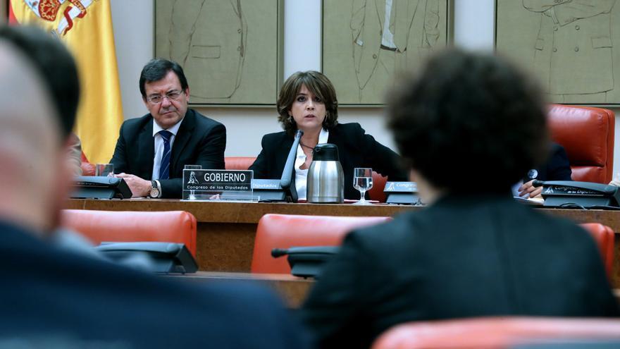 La ministra de Justicia, Dolores Delgado, comparece en la Comisión de Justicia.