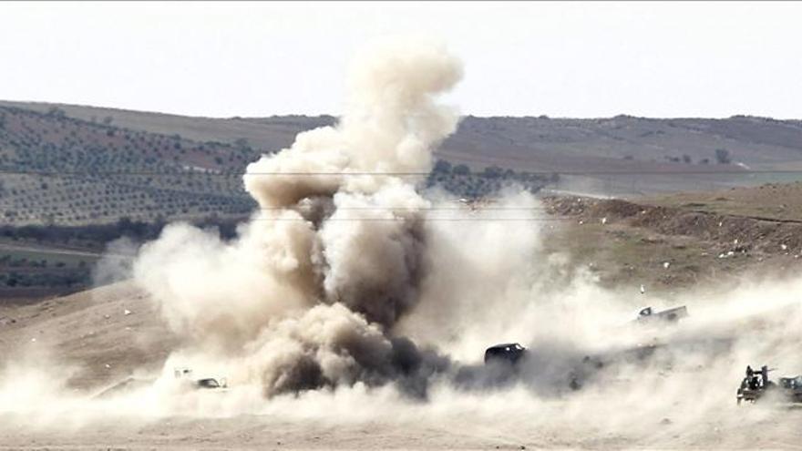Al menos 40 miembros del EI muertos en choques y bombardeos en el norte sirio
