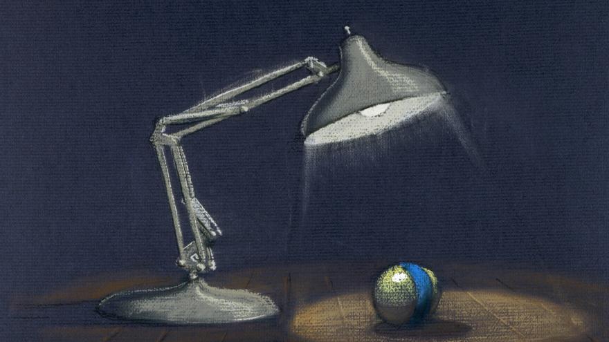 Lámpara Luxo (Lamparita, 1986), creada por John Lasseter. / Disney/Pixar