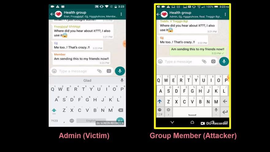 Uno de los casos de la vulnerabilidad de WhatsApp