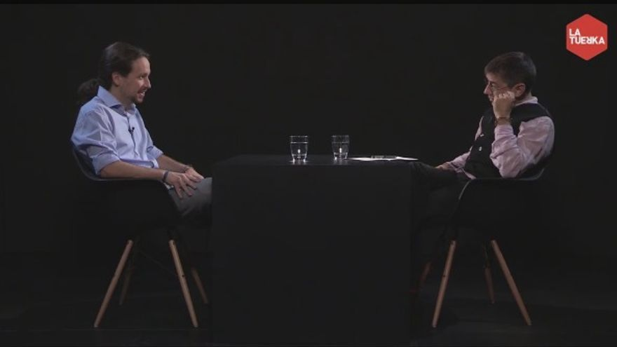 Pablo Iglesias conversa con Juan Carlos Monedero / La Tuerka