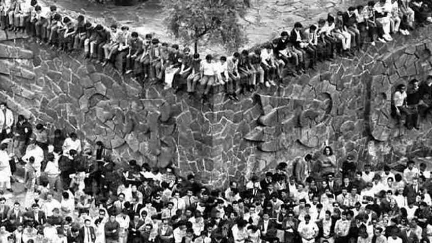 La plaza de las Tres Culturas en 1968