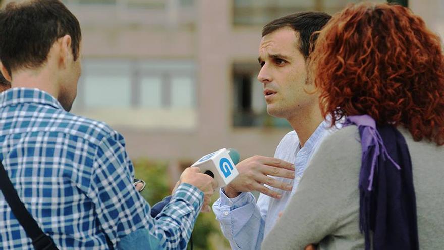 Diego Lores, en el centro