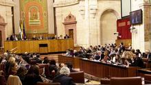 Pleno de noviembre en el Parlamento de Andalucía.