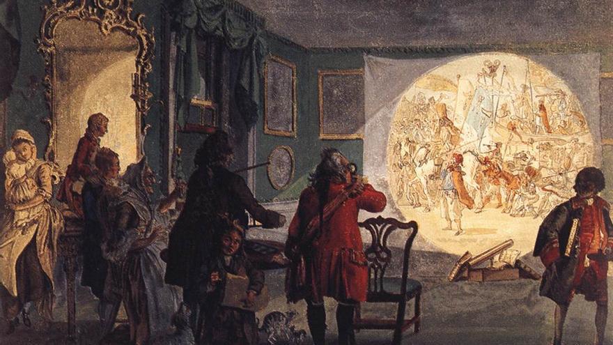 La Laterna Magica (c. 1760)   Paul Sandby