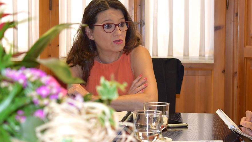 La vicepresidenta valenciana y líder de Compromís, Mónica Oltra, durante la entrevista concedida a eldiario.es