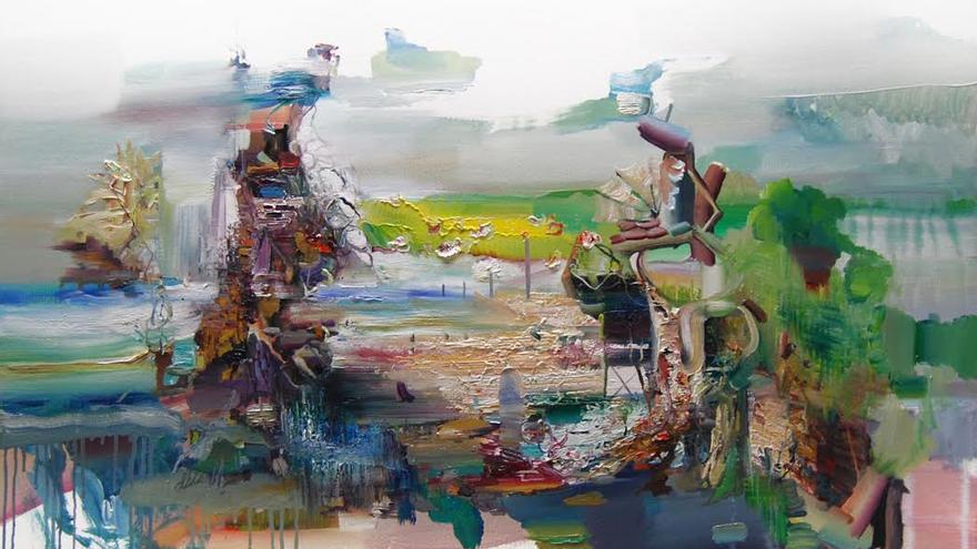 Una obra de Miguel Oñate, perteneciente a la exposición