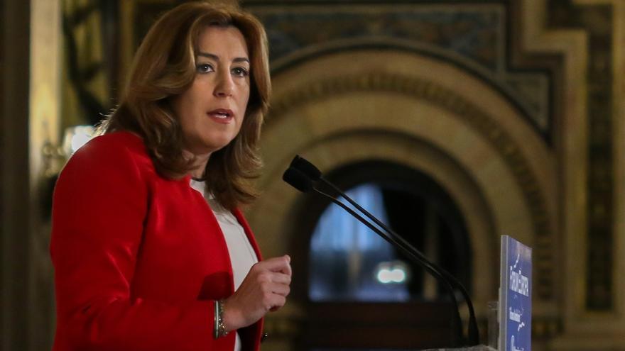 """Susana Díaz critica que Iglesias """"calla"""" cuando Podemos """"dará la Alcaldía de Aljaraque (Huelva) al PP"""