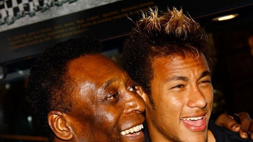 Pelé junto a Neymar
