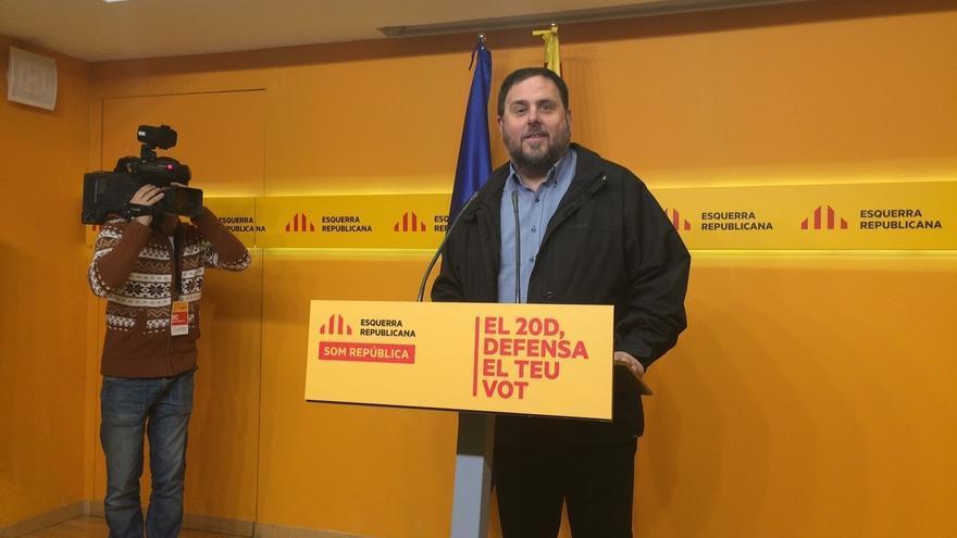 Junqueras (ERC) urge a negociar para que la Asamblea de la CUP del día 27 apoye la investidura