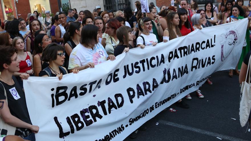 Concentración en rechazo a la sentencia de Juana Rivas frente al Ministerio de Justicia / David Conde
