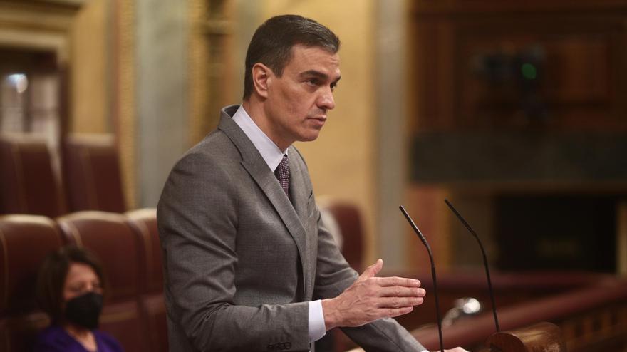 Pedro Sánchez, en la tribuna del Congreso de los Diputados