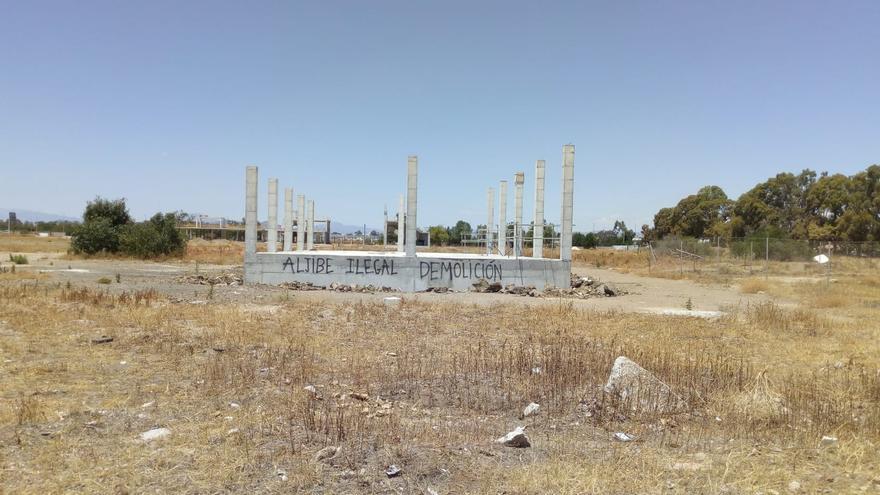 Imagen del estado actual de una de las estructuras de la academia en Arraijanal, paralizada