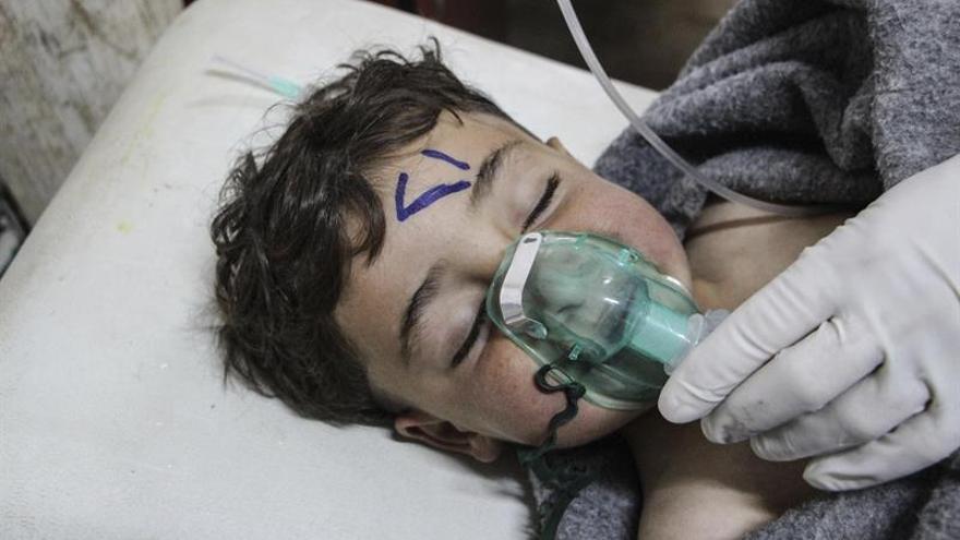 Rusia dice que la aviación siria bombardeó un depósito rebelde de armas tóxicas