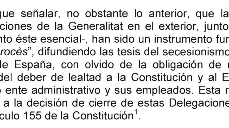 Informe del ministerio de Exteriores sobre las oficinas exteriores de la Generalitat