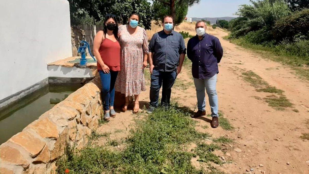 Abrevaderos recuperados en Villanueva del Rey.