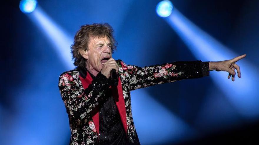 En la imagen, Mick Jagger, cantante de la banda Rolling Stones.