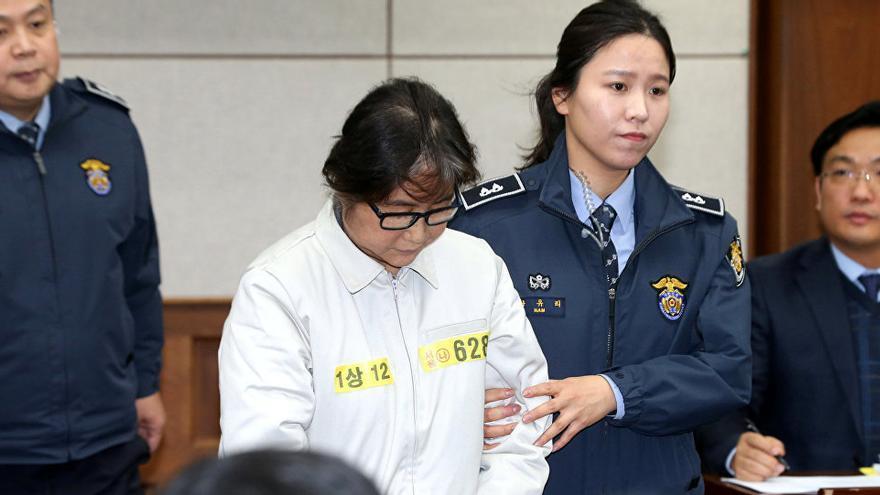 'La Rasputina' durante el juicio, en Seúl