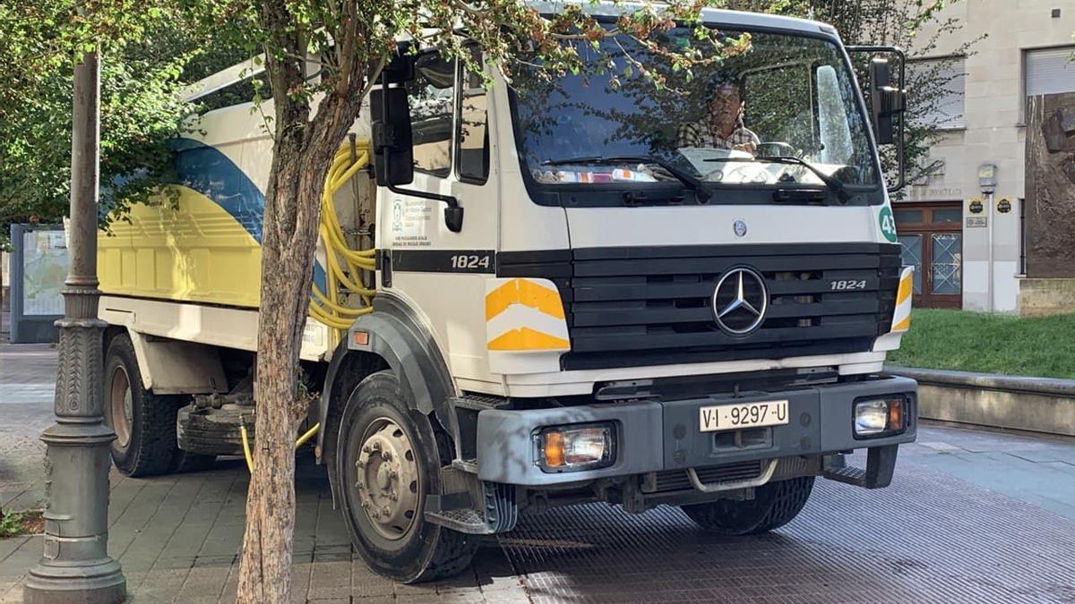 Un camión de Cespa todavía en servicio en 2021