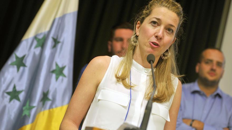 Verónica Meseguer, en su intervención de este sábado en el congreso insular