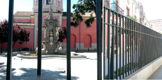 La Fuente de la Fama y el propio Museo Municipal verjados
