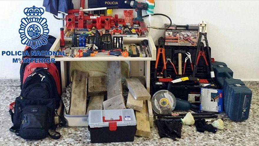 Detenidos ocho atracadores de joyerías que actuaban en toda España