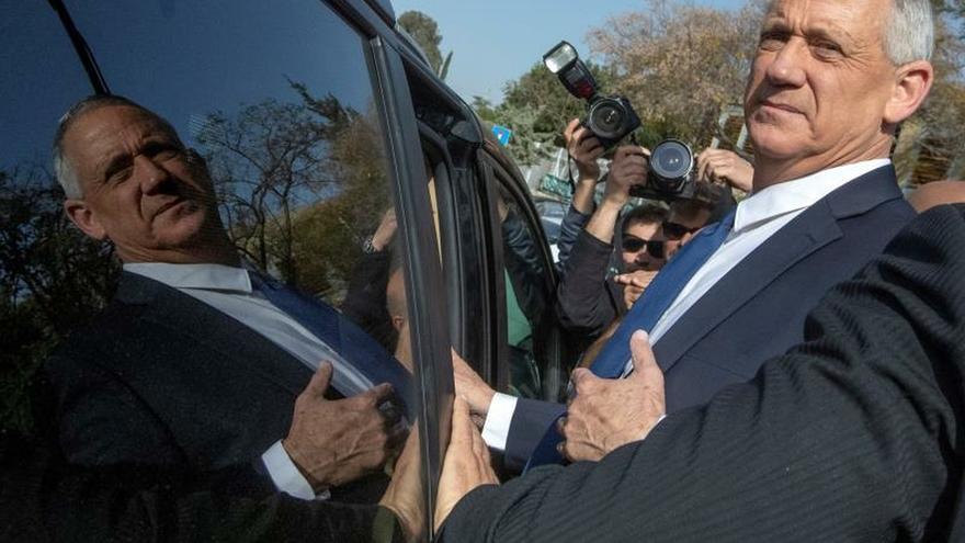 Benny Gantz, líder de la coalición centrista Azul y Blanco.