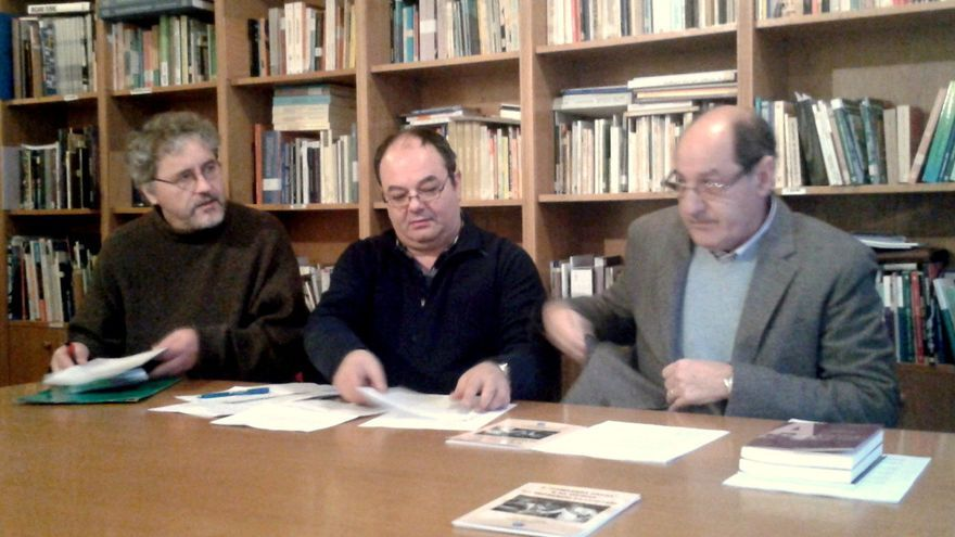 Manuel Rivas, Rubén Afonso y Manuel Monge