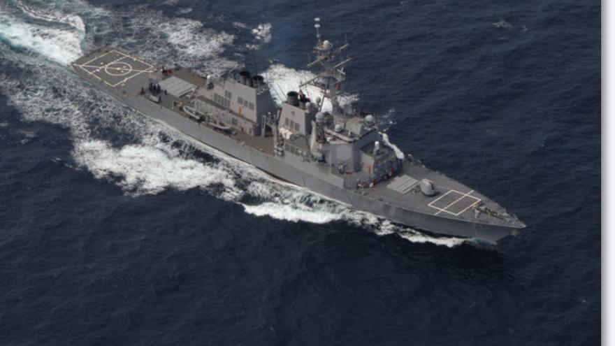 Imagen del destructor USS Ross