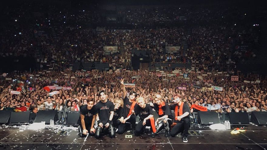 Monsta X en el Palacio de Vistalegre durante su show del 23 de junio