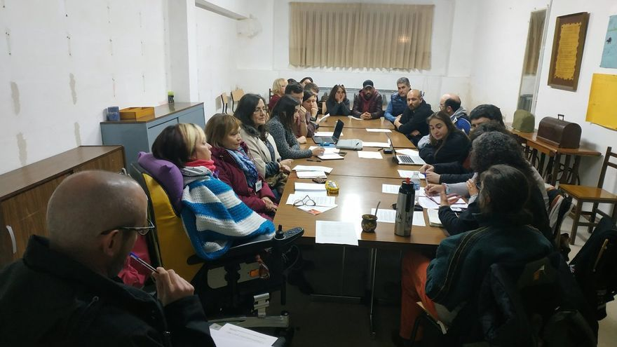 Reunión de los colectivos sociales cántabros en Torrelavega.   CNSV