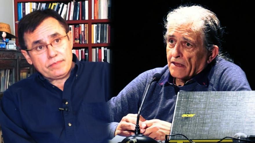 Montaje Ramón Cotarelo y Félix Ovejero en Carne Cruda
