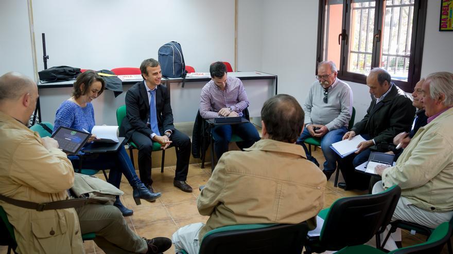 La concejal Helena Galán en un encuentro con técnicos del Ayuntamiento de Madrid