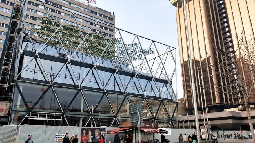 Obra de la renovación de la antigua sede de Barclays proyectada por el británico Norman Foster en la plaza de Colón de Madrid.