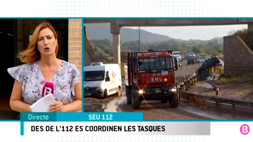 Informativo de IB3 con la tragedia en Mallorca