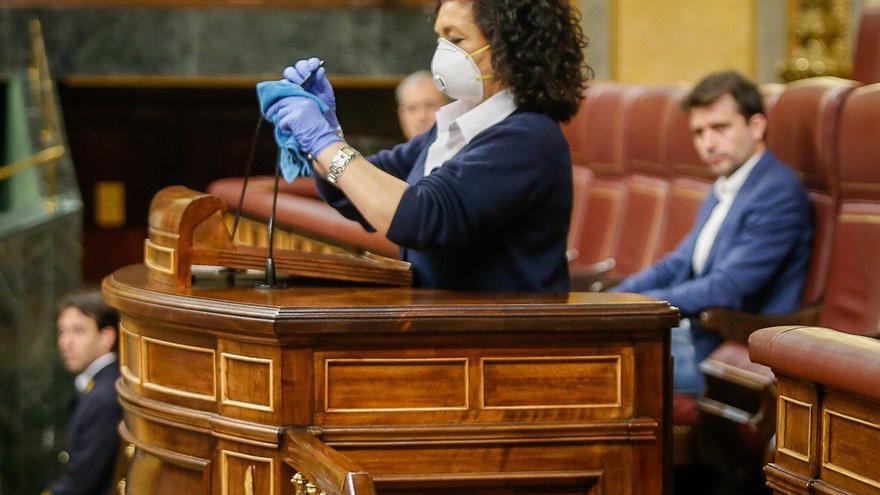 Una trabajadora del Congreso