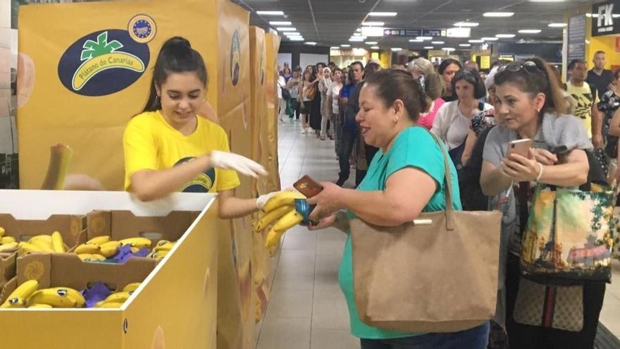 Plátanos de Canarias gratis en el Metro de Madrid