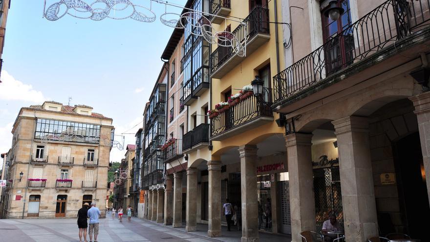 Calles porticadas en el centro de Soria. Luis Rogelio HM