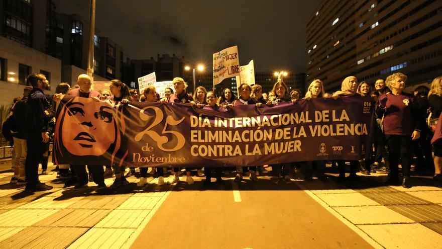 Movilización feminista en Las Palmas de Gran Canaria por el 25N.