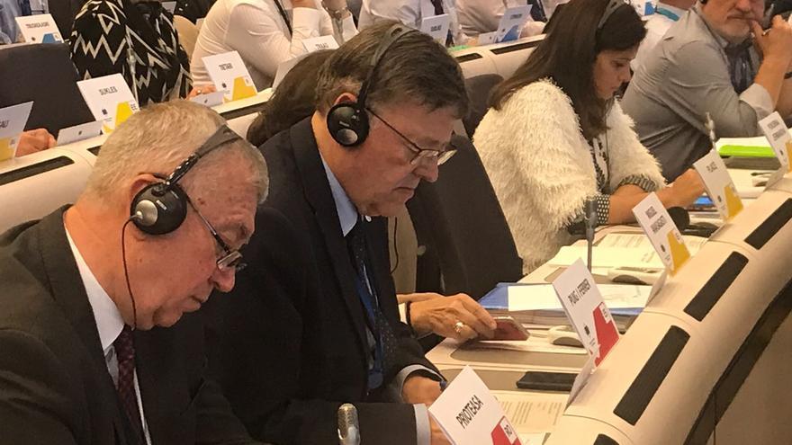 Ximo Puig durante su visita a Bruselas