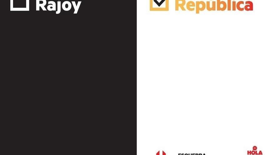 ERC lanza un nuevo lema de campaña tras las detenciones: 'Rajoy o República'