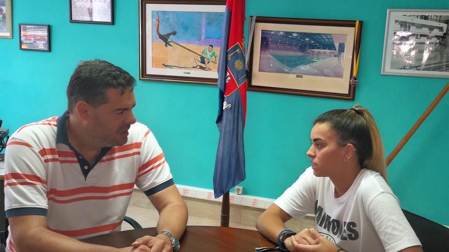 Misa junto al concejal de Actividad Física y Deportes de Telde, Diego Ojeda