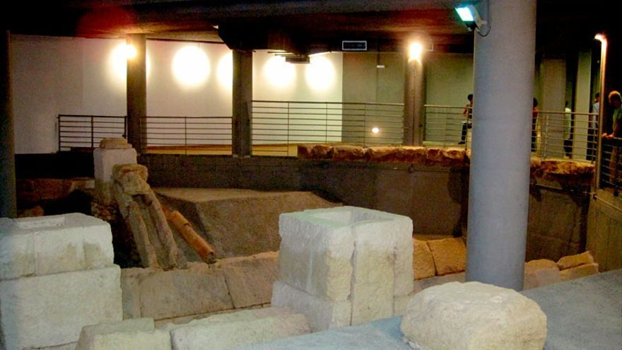 Cloacas del anfiteatro romano de Córdoba, conservadas en un garaje de un edificio de viviendas.